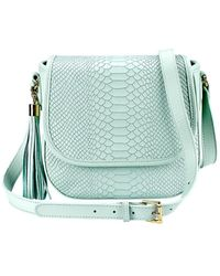 Gigi New York - Embossed Leather Crossbody Bag - Lyst