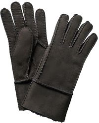 Surell - Black Leather Gloves - Lyst