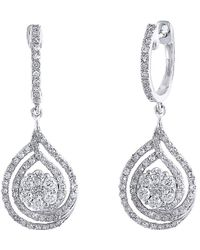 Effy - Fine Jewellery 14k 1.50 Ct. Tw. Diamond Drop Earrings - Lyst