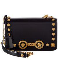2e16c2a5ad9 Versace - Medusa Stud Icon Leather Shoulder Bag - Lyst