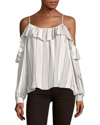 adb54b28f3cb99 Parker - Ruffle Cold-shoulder Stripe Top - Lyst