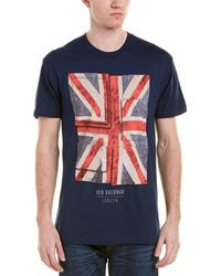 Ben Sherman - Painted Union Jack T-shirt - Lyst