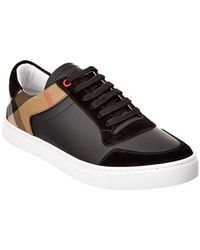 Burberry - Hartfield House Check Panel Sneakers - Lyst