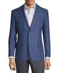 Lubiam - Linen & Wool-blend Sport Coat - Lyst