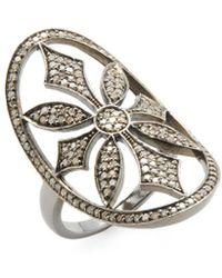 Adornia - Fine Jewelry Renata Silver & 1.30 Ct. Tw. Diamond Ring - Lyst