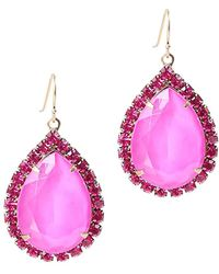 Loren Hope - Krista 18k Plated Crystal Drop Earrings - Lyst