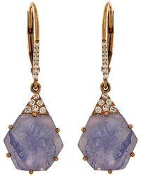Meira T - 14k Rose Gold 5.92 Ct. Tw. Diamond & Tanzanite Drop Earrings - Lyst