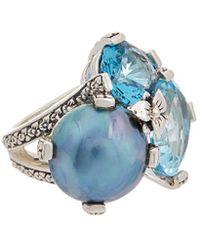 Stephen Dweck - Silver Gemstone & 15mm Pearl Ring - Lyst