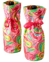 Lilly Pulitzer - Set Of 2 All Nighter Wine Totes - Lyst