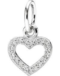 PANDORA - Silver Cz Be My Valentine Heart Pendant - Lyst
