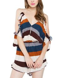 Sugarlips - Sugar Lips Raye Cold Shoulder Romper - Lyst