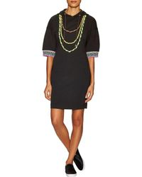 Love Moschino - Hooded Necklace Sheath Dress - Lyst