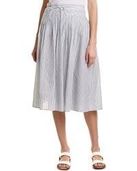 Vince - Skinny Stripe Wrap Skirt - Lyst