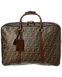 Fendi - Brown Zucca Canvas & Brown Leather Large Briefcase - Lyst