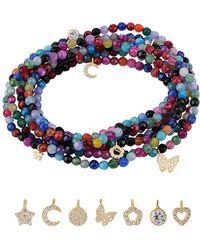 Gabi Rielle - 22k Over Silver Cz Bracelet/necklace - Lyst