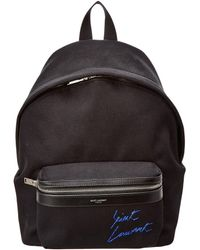 Saint Laurent Mini Toy City Embroidered Textured-leather Backpack in ... 6ba91357bc