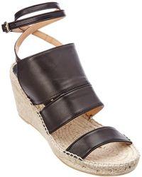 Bettye Muller - Dusty Leather Wedge Sandal - Lyst