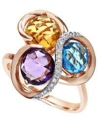 Effy - Fine Jewelry 14k Rose Gold 3.30 Ct. Tw. Diamond & Gemstone Ring - Lyst