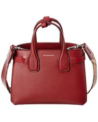 Burberry - The Baby Banner In Leather And Vintage Check - Lyst