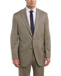 Hart Schaffner Marx - Chicago Fit Wool Suit With Flat Front Pant - Lyst