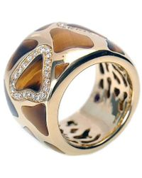 Roberto Coin - 18k Two-tone 0.50 Ct. Tw. Diamond & Tiger's Eye Ring - Lyst
