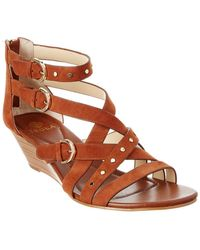 Isola - Petra Suede Wedge Sandal - Lyst