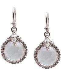 Armenta - New World Silver 0.28 Ct. Tw. Diamond & Gemstone Earrings - Lyst