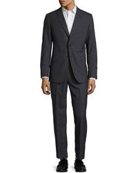 Martin Greenfield Clothiers - Martin Greenfield Slim Fit Wool Suit With Flat Front Pant - Lyst