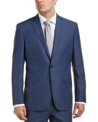 Kenneth Cole - New York Wool- And Linen-blend Suit With Flat Front Pant - Lyst