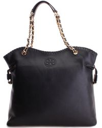 Tory Burch - Marion Leather Tote - Lyst