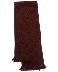 Louis Vuitton - Brown Wool & Silk-blend Muffler - Lyst
