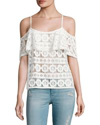 Plenty by Tracy Reese - Cold-shoulder Lace Top - Lyst