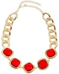 Kenneth Jay Lane - Plated Necklace - Lyst