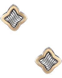 David Yurman - David Yurman Quatrefoil 18k & Silver Earrings - Lyst