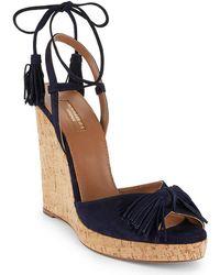 Aquazzura - Wild One Leather Wedge Sandal - Lyst