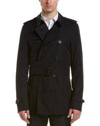 Burberry Sandringham Short Trench Coat - Blue