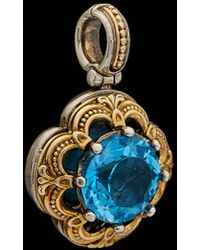 Konstantino - Hermione 18k & Silver 5.00 Ct. Tw. Blue Topaz Pendant - Lyst