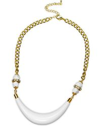 Gottex - 18k Plated Crystal & Lucite Necklace - Lyst