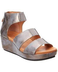 Gentle Souls - Milena Leather Wedge Sandal - Lyst