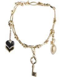 a6ffc574a463 Louis Vuitton - Louis Vuitton 18k Two-tone Peridot Charm Bracelet - Lyst