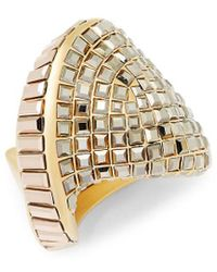Swarovski - Crystal Plated Stainless Steel Ring - Lyst