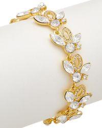 Carolee - Royal Redeux 12k Plated Flex Bracelet - Lyst
