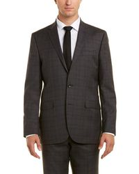 Kenneth Cole 2pc Wool Suit With Flat Front Pant