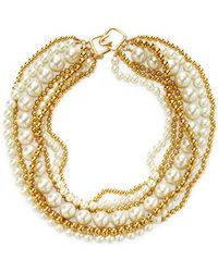 Kenneth Jay Lane - Alternating Pearl Statement Necklace - Lyst