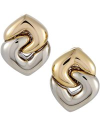 BVLGARI - Bulgari 18k Two-tone Earrings - Lyst