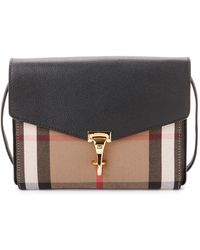 Burberry - Macken Small House Check & Leather Crossbody - Lyst