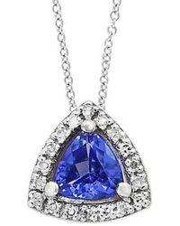 Effy - Fine Jewelry 14k, Diamonds & Tanzanite Necklace - Lyst