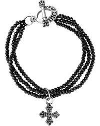 King Baby Studio - Silver Spinel Cross Bracelet - Lyst