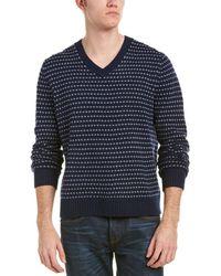Brooks Brothers - Fairisle Stripe Wool-blend V-neck - Lyst