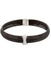 Alor - 18k & Stainless Steel 0.12 Ct. Tw. Diamond Cable Bracelet - Lyst